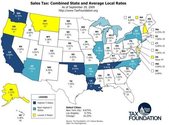 Những Bang Miễn Thuế Vat ở Mỹ đầu Tư định Cư Mỹ Theo Chương Trinh Eb5
